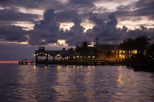 Bar, Hotel, Key West, Sky, Dramatic, Sea, Beach Bar