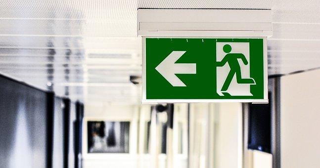 Emergency Exit, Exit, Sign, Escape, Emergency, Door