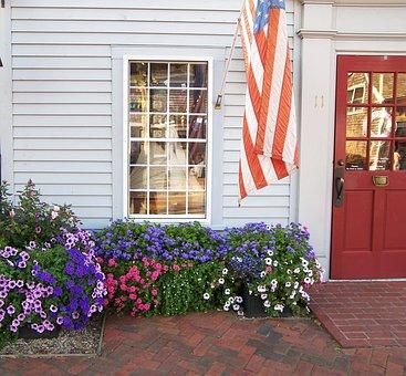 Flowers, Seasonal, Ornamental, Garden, Flag, Bricklined