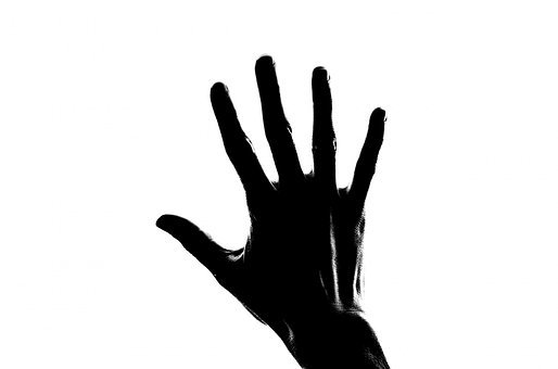 Silhouette, People, Hand, Palm, Open, Child, Finger