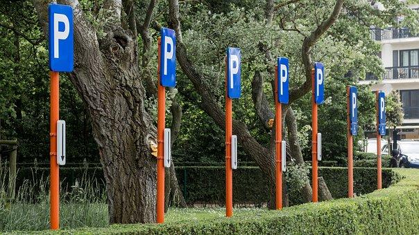 Signs, Park, Heaped, Parking, Shield, Pkw, Park Zone