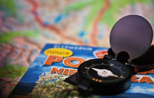 Guide, Book, Compass, Map, Travel, Adventure, Hobby