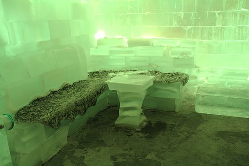Bar, Icebar, Green, Cold, Freezing, Ice Bar, Travel