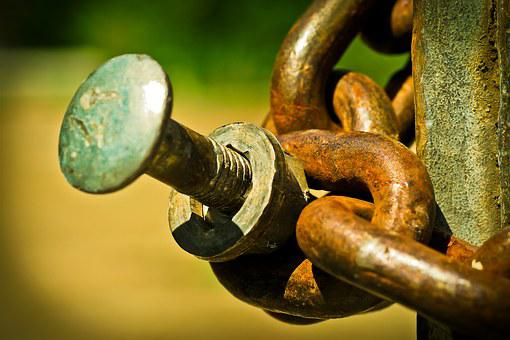Chain, Chain Link, Links Of The Chain, Iron, Metal