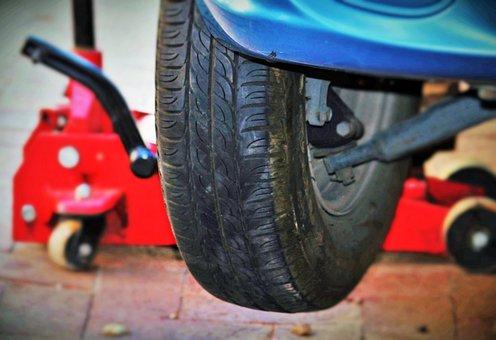 Auto Tires, Wheel Change, Jack, Car Breakdown