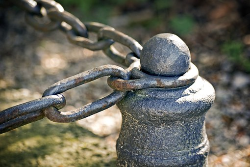 Fixing, Post, Chain, Stainless, Metal, Iron