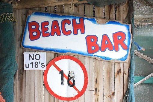 South Africa, Strandlooper, Beach Bar, No U 18 's