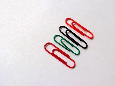 Paper Clips, Clips, Office Supply, Colorful, Office