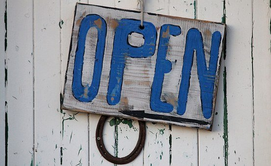 Open, Sign, Beach, Rustic, Open Sign, Business