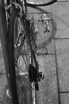Bicycle, String, Wheel, City, Pedal, Parking, Bike