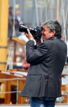 Photographer, Photograph, Man, Camera, Photo