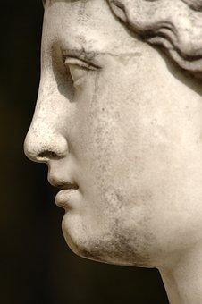 Portrait, Statue, Art, Profile, Woman, Girl, Person