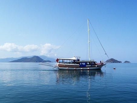Sea, Ship, Boot, Water, Powerboat, Port, Compass, Sail
