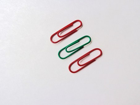 Paper Clip, Colorful, Clip, Supplies, Metal, Green, Red