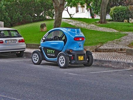Electric, Renault Twizy, Mini, Single, Street, Parking