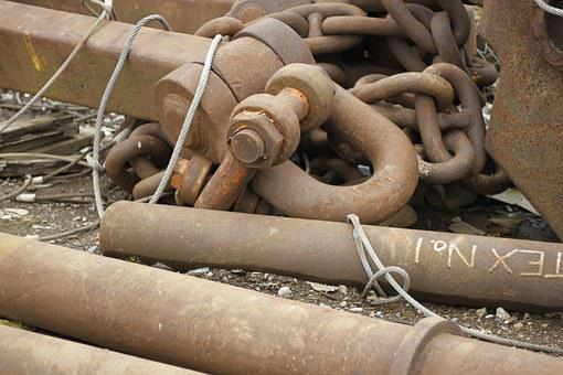 Rust, Chains, Metal, Boat, Iron, Rusted, Industrial