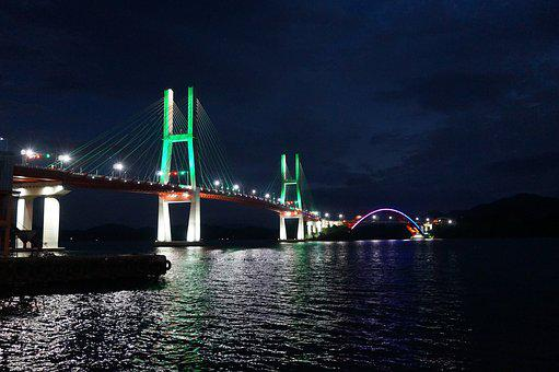 Republic Of Korea, Sacheon, Samcheonpo Bridge