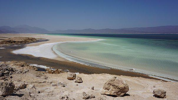 Salt, Lake, Salt Mine, Abe Lake, Djibouti
