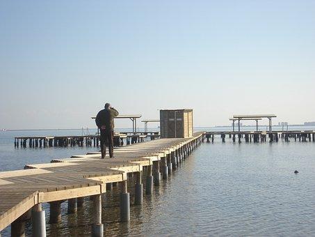 Beach, Spa, Steps, Sea, Sky, Maritimo, Port, Walking
