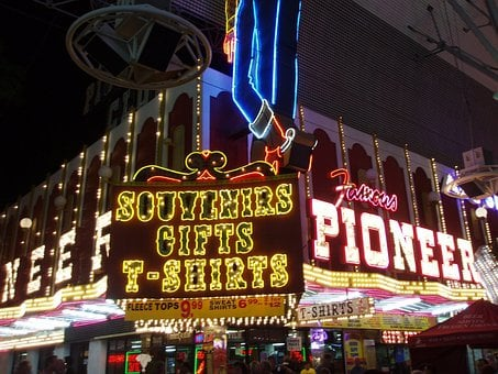 Las Vegas, Souvenirs, Shop, Illuminated Advertising