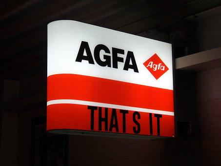 Agfa, Luminous Advertising, Sign, Neon, Brand, Company
