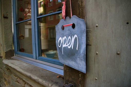 Open, Welcome, Note, Entry, Sign