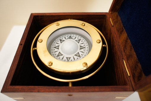 Brass Nautical Compass, Stylish Compass In The Box