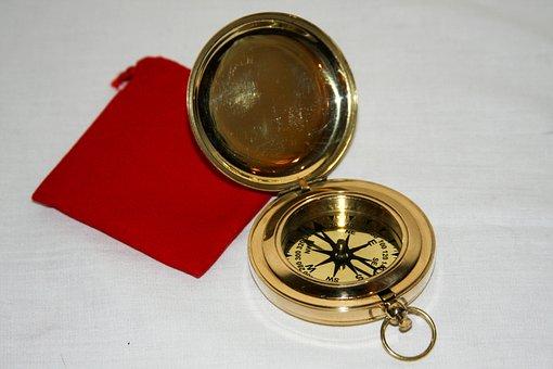 Brass Nautical Compass, Stylish Gift Compass