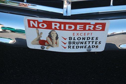 License, Plate, Tag, Car, Humor, Bumper