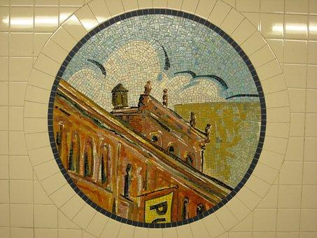 Mosaic, Tile, Subway, New York, Pattern, Design
