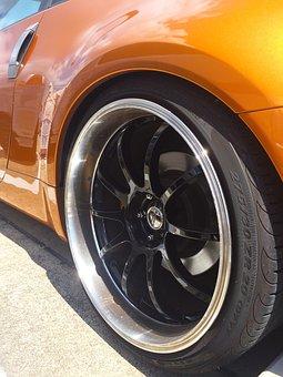 Wheel, Car, Tire, Aluminum Alloy, Shining, Reflection