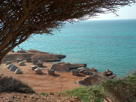 Djibouti, Africa, Ras Bir Beach, Sea, Toukouls, Side