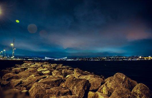 Istanbul, Bridge, Turkey, Turkish, Sea, City, Cityscape