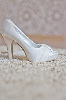 Wedding, Shoes, Higheels, White