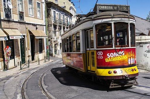 Transport, Lisbon, Alfama, Portugal, Travel, City, Tram