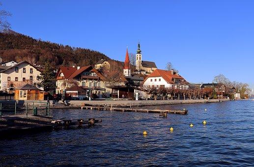 Attersee, Salzkammergut, Lake, Austria, Alpine, Church