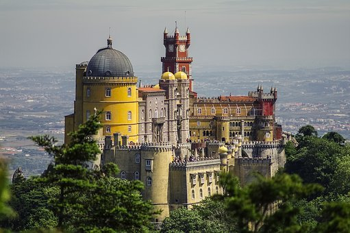 Portugal, Castle, Foam, Sintra, Lisbon, Architecture