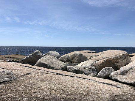 Rocks, Shoreline, Ocean, Halifax, Peggy's Cove, Beach