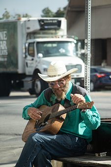 Busker, Guitarist, Guitar, Street Musician, Atx