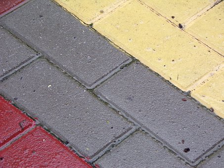 Road, Paving Stone, Solid, Casing, Color, Water, Wet
