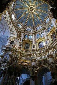 Cathedral, Church, Catholic, Granada, Andalusia, Spain