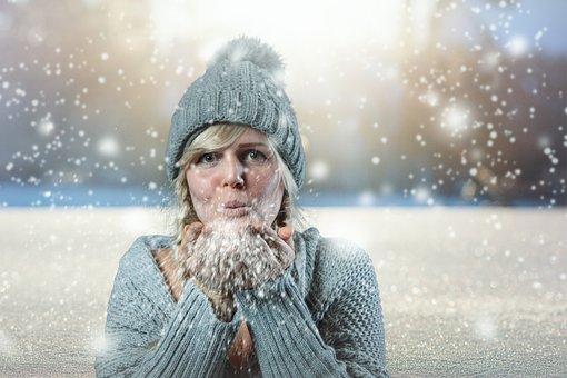 Snow, Girl, Winter, Cold, Woman, Snowfall, Composing