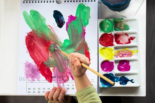 Paint, Child, Acrylic Paints, Creative, Brush, Fun, Joy