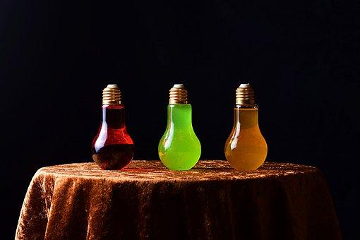 Energy Drinks, Light Bulbs, Bottles, Beverages