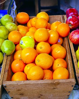 Farmers Market Fruit, Oranges, Fruit, Apples, Orange