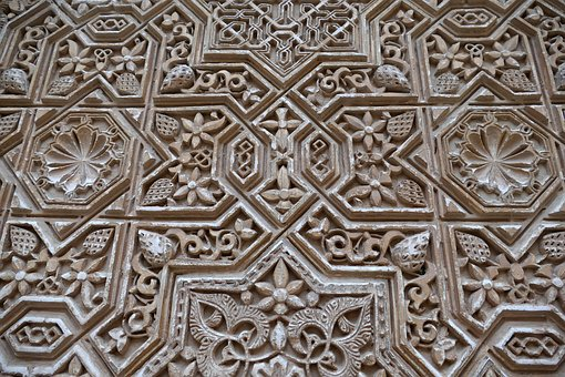Alhambra, Granada, Spain, Wall, Motive, Moors, Mudejar