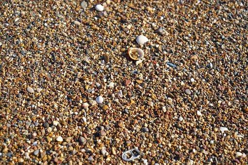 Beach, Stone, Gravel, Sand, Marine, Landscape, Nature