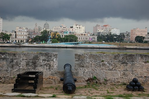 El Moro, Cuba, Havana, Pirates, Gun, Bird, Fortress