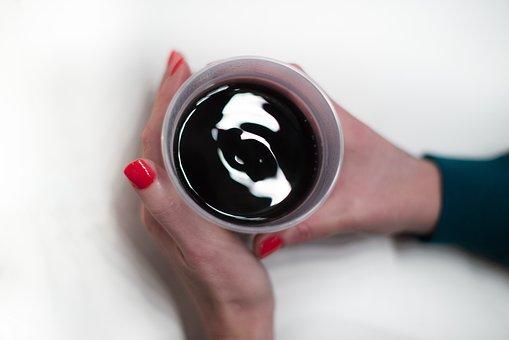 Beverage, Hot, Hands, Nail Polish, Woman, Holding