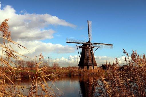 Kinderdijk, Mill, Wind Mill, Netherlands, Holland